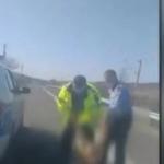 10:57 Femeie din Bolboşi, târâtă pe stradă de poliţişti. IPJ Gorj: Avea un comportament recalcitrant
