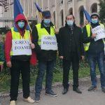 08:56 Miron Cozma, alături de minerii aflați în greva foamei