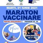09:05 Maratonul de vaccinare pentru tinerii de 16 și 17 ani, mutat la Shopping City Târgu-Jiu