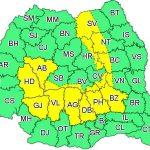 11:27 Cod galben de instabilitate atmosferică pentru 16 judeţe