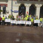 """Angajați ai Termocentralei Paroșeni, la protestele din Piața Prefecturii. """"Totul a fost orchestrat politic"""""""