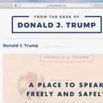 Donald Trump și-a închis blogul după 29 de zile