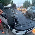 21:16 Accident în zona Rostramo. Maşină răsturnată