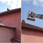09:55 Doi bărbați amenință că se aruncă de pe acoperișul Casei de Pensii din Petroșani