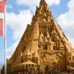 Cel mai înalt castel din nisip din lume, construit în Danemarca