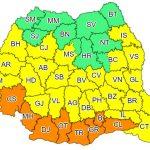 10:58 Coduri galbene şi portocalii de caniculă şi furtuni în mare parte din ţară, până duminică