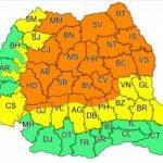12:36 Coduri portocaliu și galben de furtuni violente și ploi torențiale, în cea mai mare parte din țară