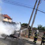 11:18 Scoarța: Incendiu la o rulotă