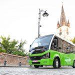 Cum arată microbuzele electrice care vor circula în centrul istoric al Sibiului
