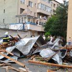 10:41 Pompierii gorjeni, 30 de intervenții în urma furtunii