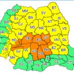 12:28 Codurile galben şi portocaliu de ploi, prelungite până luni