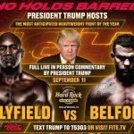 07:29 Trump comentează, sâmbătă seară,  un meci de box, la Miami
