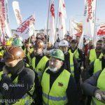 Minerii polonezi, protest la Luxemburg împotriva închiderii unei mine de lignit