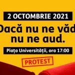 10:08 Protest AUR în Piața Universității împotriva guvernului și a certificatului verde